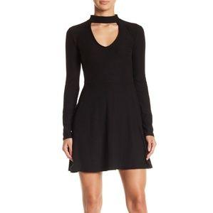 NEW BLACK Choker Cutout Fit & Flare Mini Dress!